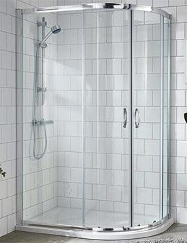 Lauren Ella 1200 x 900mm Offset Quadrant Shower Enclosure