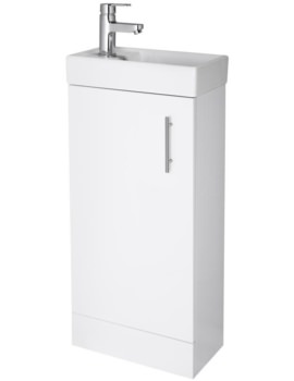 Minimalist 400mm White Floor Standing Cabinet And Basin
