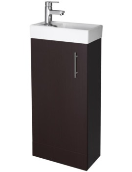 Lauren Minimalist 400mm Ebony Floor Standing Cabinet And Basin