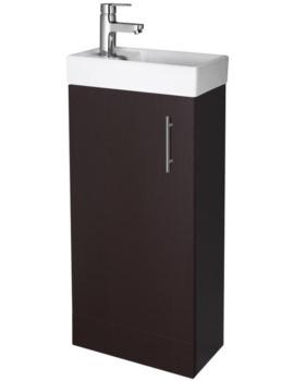 Minimalist 400mm Ebony Floor Standing Cabinet And Basin