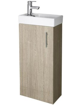 Lauren Minimalist 400mm Light Oak Cabinet And Basin - NVX892