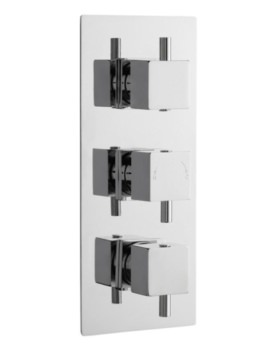 Volt Triple Concealed Thermostatic Shower Valve