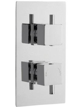 Volt Twin Concealed Thermostatic Shower Valve With Diverter