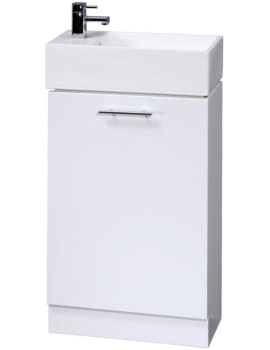 Minimalist 480mm White Floor Standing Cabinet And Basin