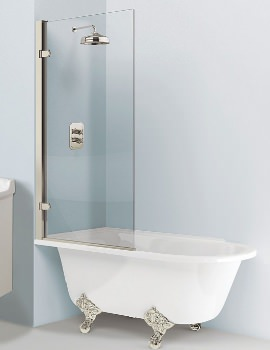 Arcade 850mm Single Panel Hinged Bath Screen
