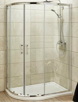 Lauren Pacific 1000 x 900mm Offset Quadrant Shower Enclosure