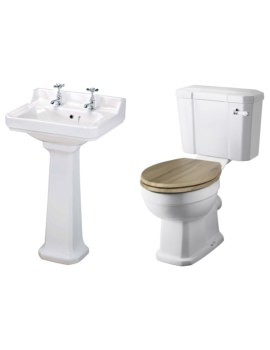 Carlton Basin And Toilet Set