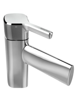 Bristan Flute Single Hole Basin Mixer Tap With Clicker Waste - FLT BAS C
