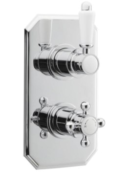Victorian Concealed Thermostatic Twin Shower Valve
