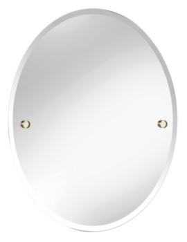 Oval 610 x 500mm Mirror Gold