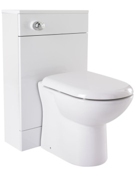500 x 300mm Back to Wall WC Unit High Gloss White