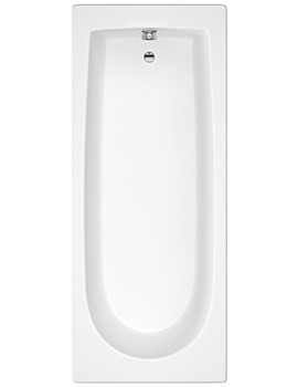 Barmby 1600 x 700mm Round Single Ended Acrylic Bath