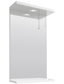 Mayford Gloss White 450mm Mirror With Light Canopy