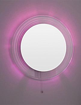 Orpheus 600mm Round Colour Change LED Mirror