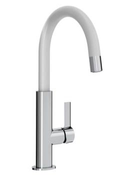 Melba Kitchen Sink Mixer Tap Chrome And White