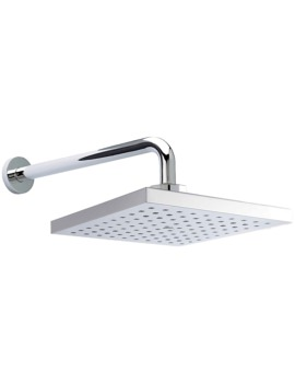 200 x 200mm Square ABS Fixed Shower Head And Wall Mounted Round Arm