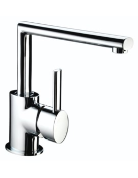 Oval Easyfit Kitchen Sink Mixer Tap Brushed Nickel