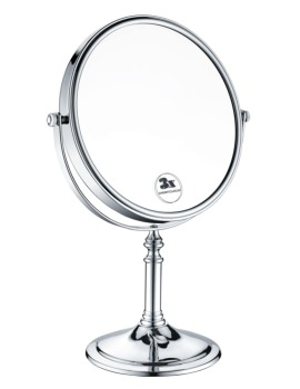 Chrome Plated Freestanding Shaving Mirror