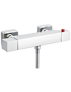 Thermostatic ABS Square Bar Shower Valve With Bottom Outlet