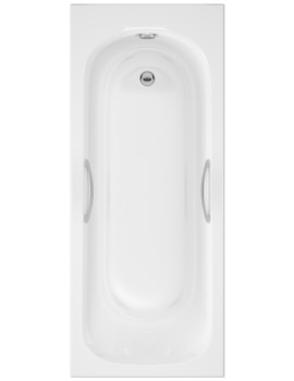 Marshall 1600 x 700mm Single Ended Acrylic Bath With Grips