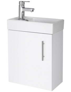 Minimalist 400mm White Wall Hung Cabinet And Basin