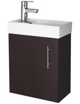Minimalist 400mm Ebony Wall Hung Cabinet And Basin