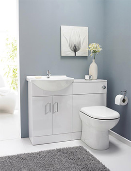 Saturn Cloakroom Furniture Pack With Round Basin