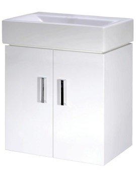 Checkers 450mm Wall Hung Cabinet And Basin
