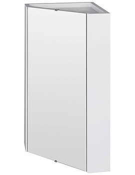 Mayford High Gloss White 459mm Corner Mirror Cabinet