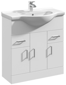 Mayford 750mm Floor Standing 3 Door And 2 Drawer Cabinet With Basin