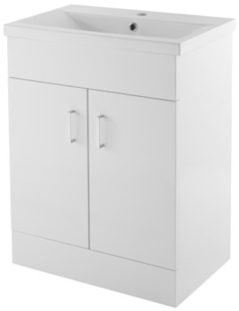 Eden 600mm 2 Door Floor Standing Basin Cabinet