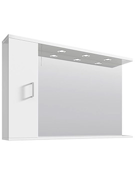 Mayford High Gloss White 1200mm Mirror Cabinet With Lights