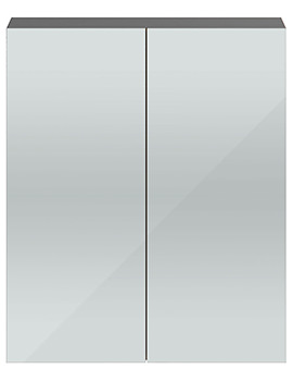 Shipton Stone Grey 600mm 2 Door Mirror Cabinet