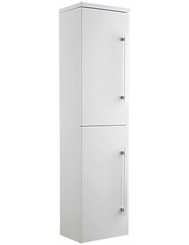 Design Gloss White 350 x 1400mm Wall Hung Tallboy Unit