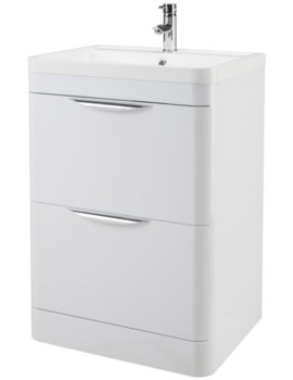 600mm 2 Drawer Floor Standing Cabinet And Basin