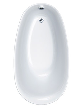 Paradigm Oval Freestanding Carronite Bath 1550 x 850mm