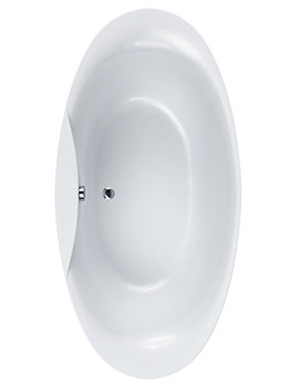 Carron Elysee Carronite Freestanding Bath 1800 x 900mm - CABEL18590PA