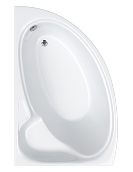 Dove Offset Corner Left Hand Bath 1550 x 950mm