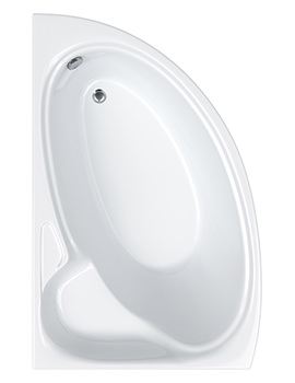 Swan Offset Corner Right Hand Bath 1700 x 1000mm