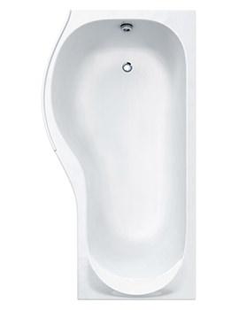 Prado Tap Ledge Shower Bath 1500 x 700mm - CABPRCTL155PALH