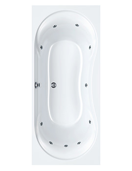 Arc Duo 11 Jet Whirlpool Bath 1700 x 750mm