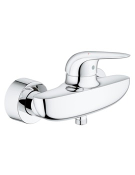 Eurostyle Wall Mounted Single Lever Shower Mixer Tap Chrome