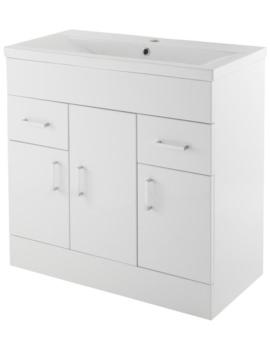 Minimalist 800mm White Floor Standing Vanity Unit