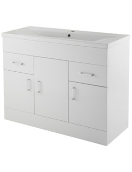 Eden 1000mm 3 Door And 2 Drawer Floor Standing Basin Cabinet