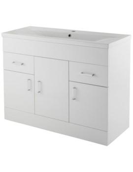 Eden 1000mm 3 Door And 2 Drawer Floor Standing Basin Cabinet