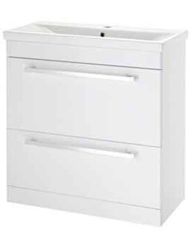 Eden 800mm Door And Drawer Floor Standing Basin Cabinet
