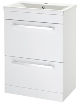 Beo 600mm Door And Drawer Floor Standing Basin Cabinet