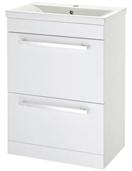 Eden 600mm Door And Drawer Floor Standing Basin Cabinet