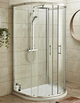 Pacific D Shaped 1050 x 925mm Shower Enclosure