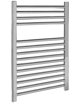 500 x 700mm Chrome Straight Heated Towel Rail